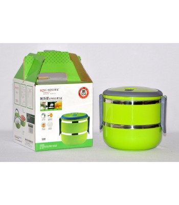 Double Layer Japanese style High Quality Kingboss Lunch box! Keeps Food Hot!!