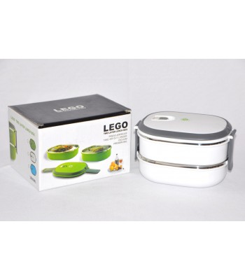 Double Layer Japanese style High Quality Lego Lunch box! Keeps Food Hot!!