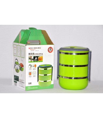 Three Layer Japanese style High Quality Kingboss Lunch box! Keeps Food Hot!!