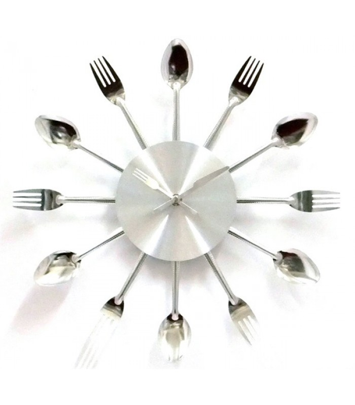 High Quality 3D Wall Clock! Spoons and Fork