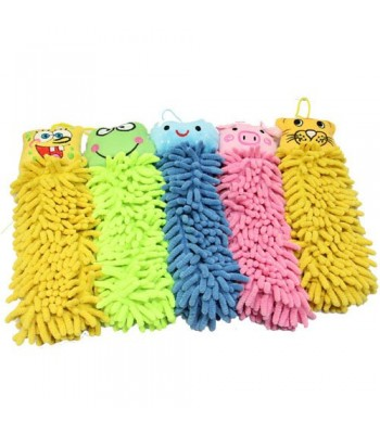 Microfiber Chenille Duster Cartoon Kitchen/Bathroom hanging towel