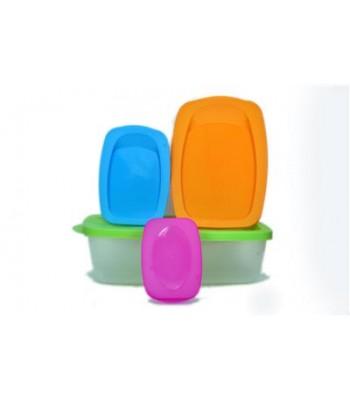 4pcs Multipurpose Plastic Kitchen Storage Container set