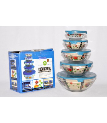 5 pcs Multipurpose Kitchen Glass Container set for Microwave use!